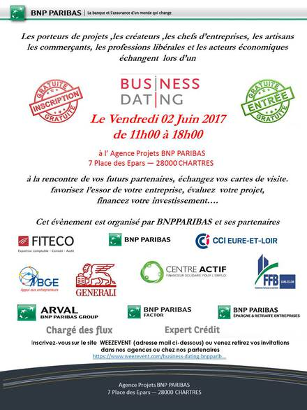 Billetterie BUSINESS DATING BNPPARIBAS